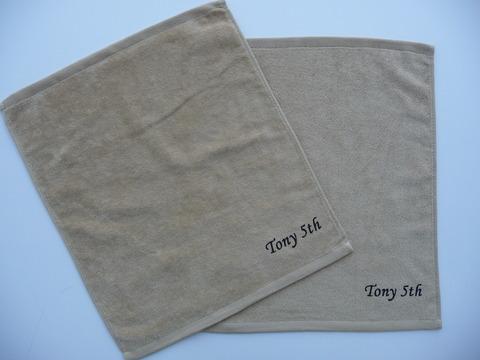 トニー接骨院様 枠有顔料プリントハンドタオル