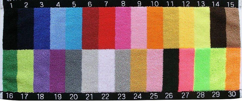 毛違いジャガード織の30色