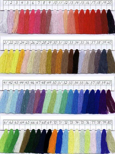 ボーダーに使う糸:80色