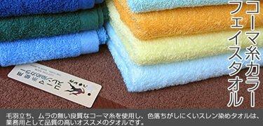 コーマ糸カラータオルのし紙印刷袋入れ