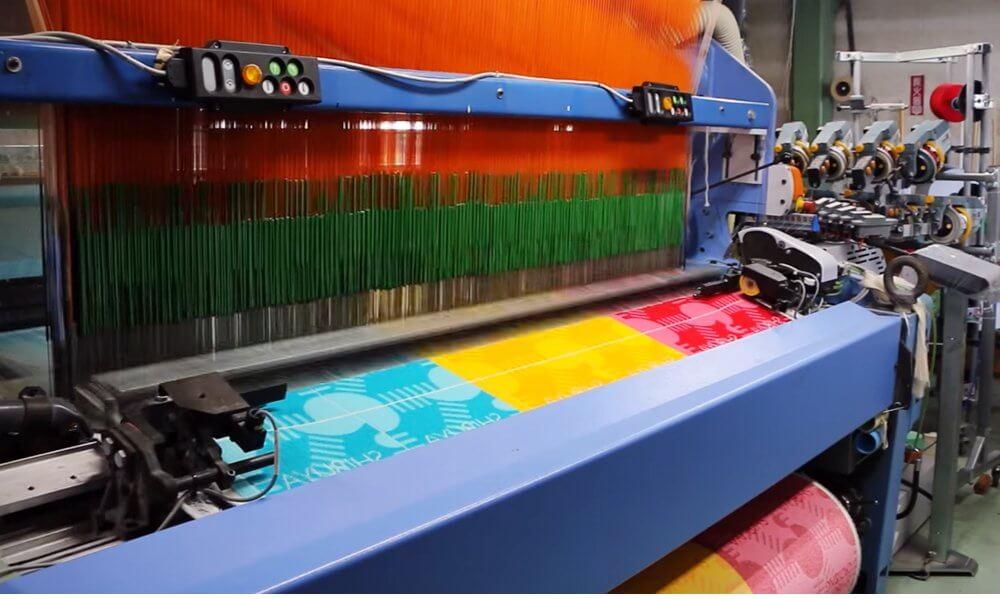 毛違いジャガード織タオル製作風景
