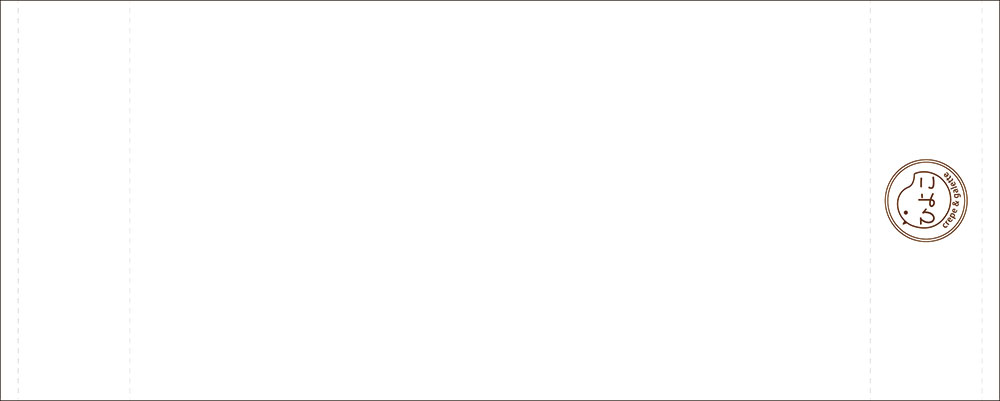 シンプルなロゴの入った名入れタオル