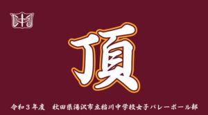 稲川中学校女子バレーボール部様のベンチタオル